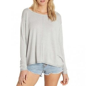 Billabong From Here Ice Grey Long Sleeve Top